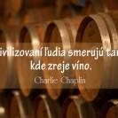 Civilizovaní ľudia smerujú tam, kde zreje víno.